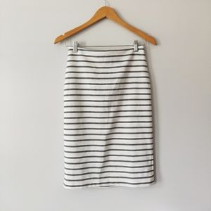 Forever 21 Striped Pencil Skirt with Zipper